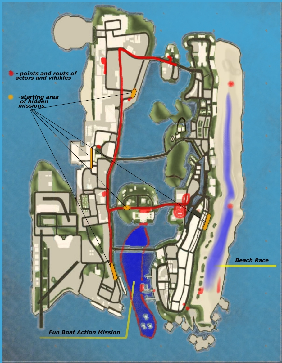VICE CITY OVERDRIVEGta Vice City Map Of Missions