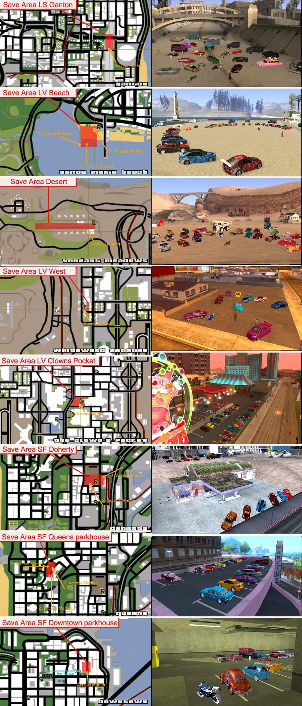 Gta San Andreas Cars Locations In Map Save-256-cars tuning cleoGta San Andreas Car Map